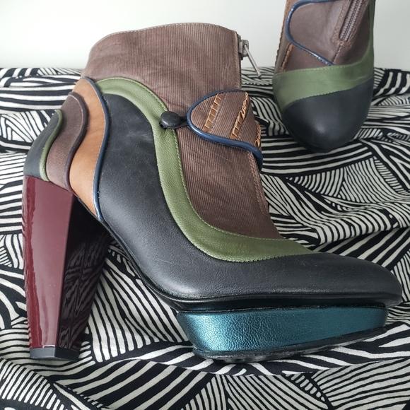 Anthro KRON designer ankle boots